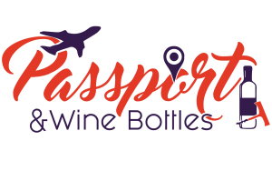 Passport and Wine Bottles logo